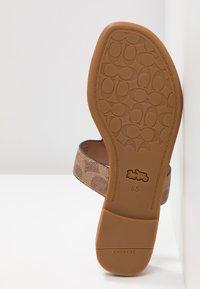 Coach - JESSIE - T-bar sandals - tan/dark brown - 6