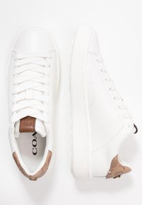 Coach - TOP WITH SIGNATURE - Tenisky - white/tan - 3
