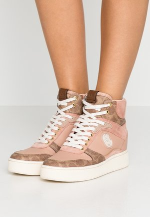 TOP - Sneakers high - tan/pale blush