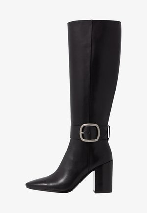 EVELYN BUCKLE BOOT - High heeled boots - black
