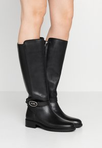 Coach - RUBY AND CARRIAGE BOOT - Vysoká obuv - black - 0