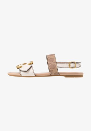JEN BUCKLE - Sandals - chalk/tan