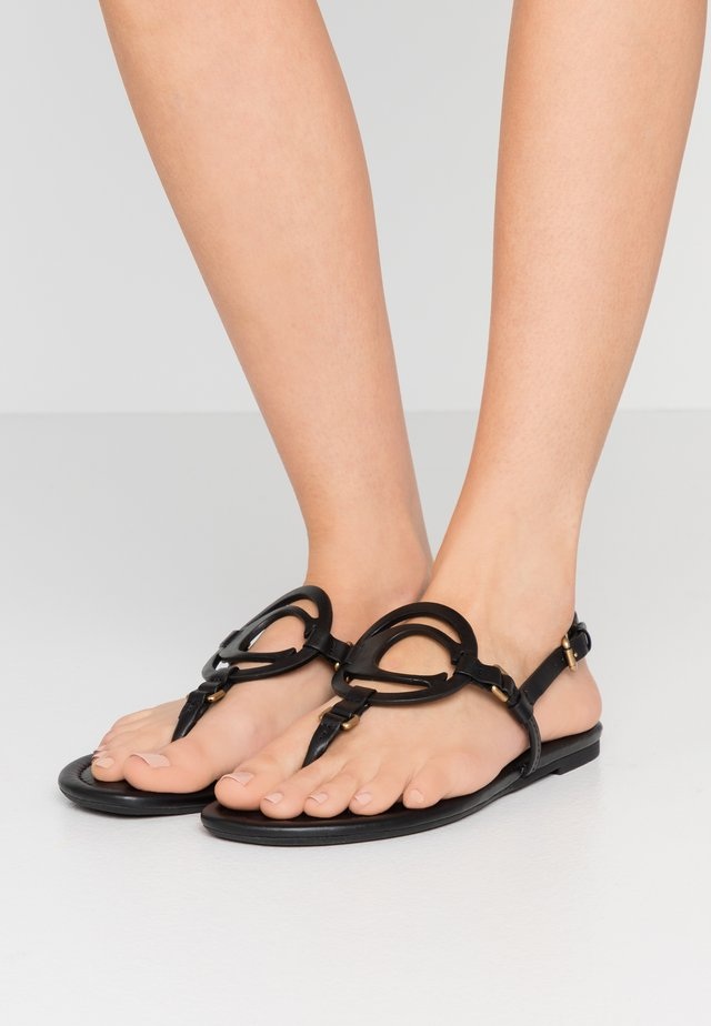 JERI - T-bar sandals - black