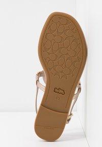 Coach - JERI METALLIC - T-bar sandals - champagne - 6