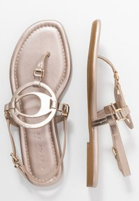 Coach - JERI METALLIC - T-bar sandals - champagne - 3
