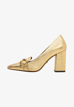 JADE LOAFER WITH SIGNATURE BUCKLE - Decolleté - gold