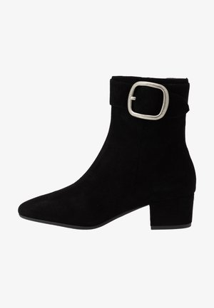 CASSANDRA BUCKLE BOOTIE - Kotníkové boty - black