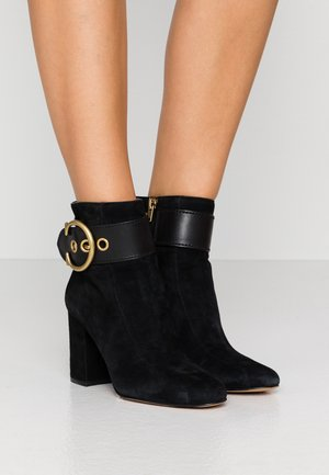 DARA BUCKLE BOOTIE - Ankle boots - black