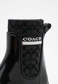 Coach - RIVINGTON RAIN BOOTIE - Wellies - black - 4