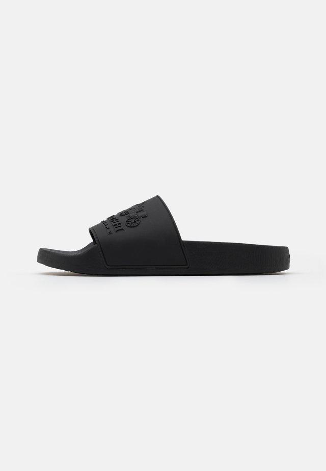3D LOGO SLIDE - Sandales de bain - black