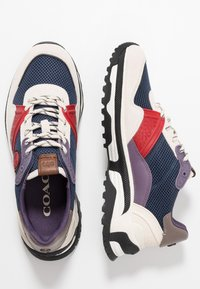 Coach - C143 COLORBLOCKED RUNNER - Sneakers basse - blue/red - 1