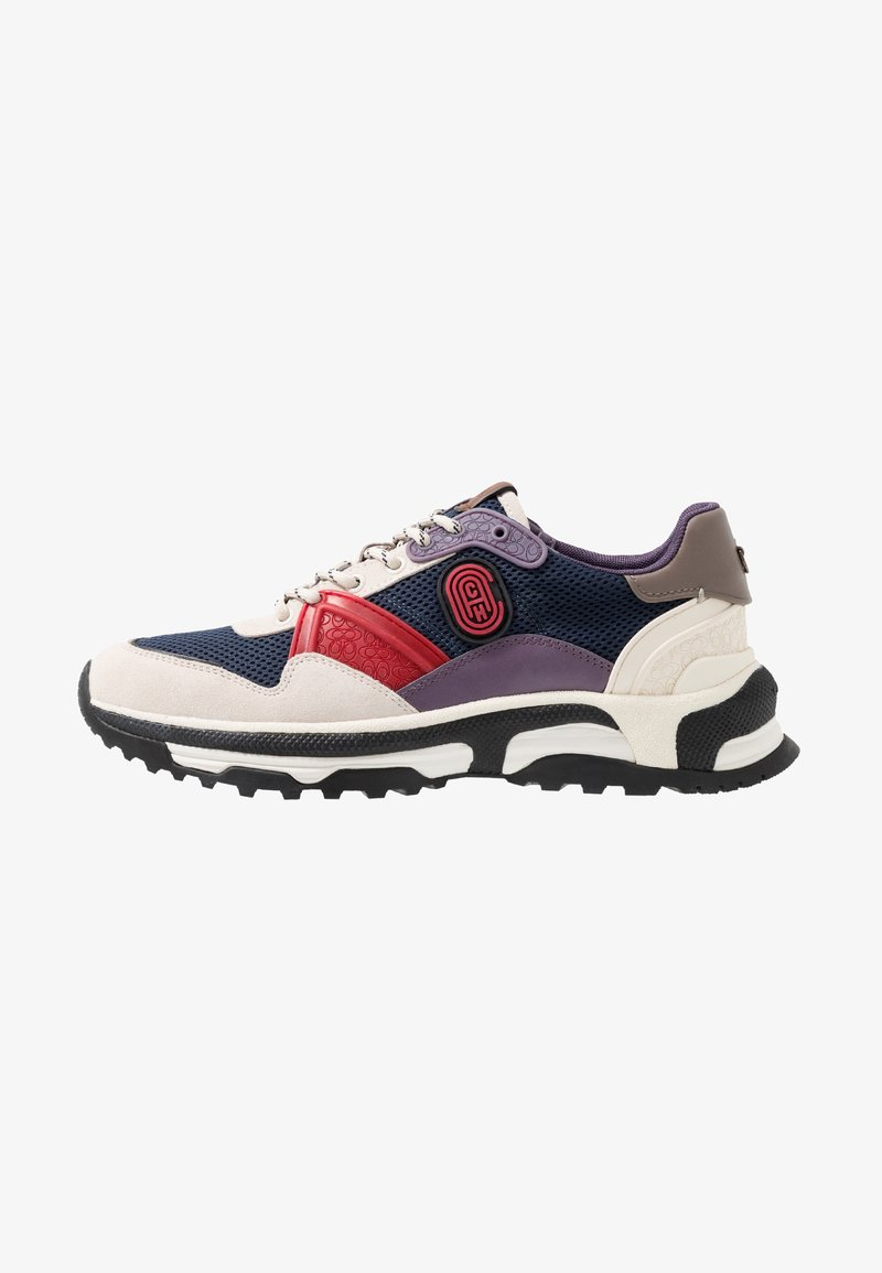 Coach - C143 COLORBLOCKED RUNNER - Sneakers basse - blue/red