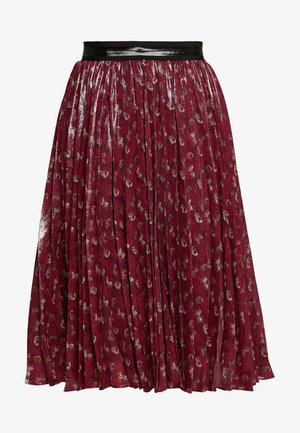 LUNAR NEW YEAR HORSE AND CARRIAGE PLEATED SKIRT - A-linjainen hame - red