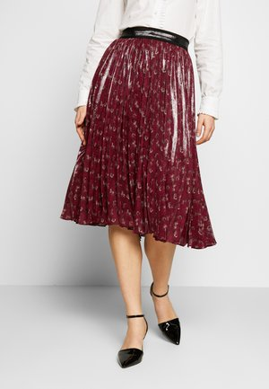 LUNAR NEW YEAR HORSE AND CARRIAGE PLEATED SKIRT - A-line skirt - red