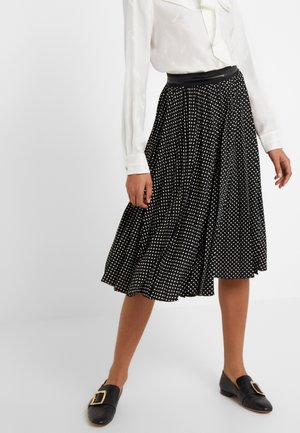 MICRO DOT PLEATED  - A-Linien-Rock - black