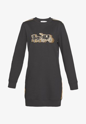 HORSE AND CARRIAGE CREWNECK DRESS - Kjole - black