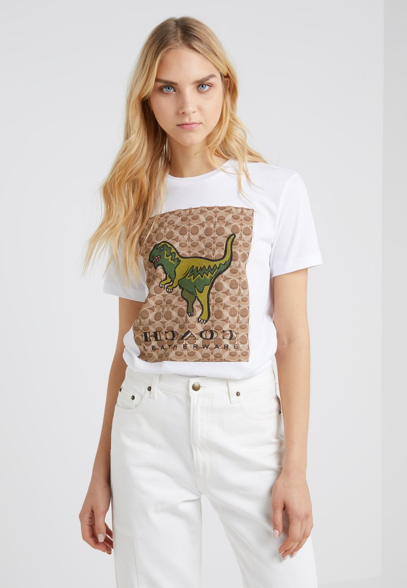 Coach - SIGNATURE REXY - T-shirt print - optic white