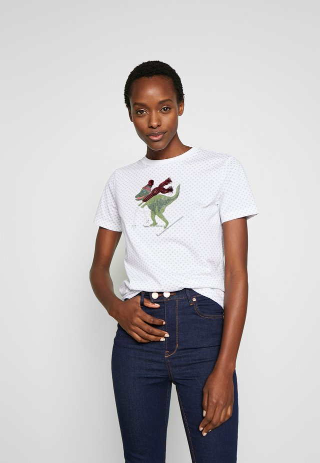 SKI REXY DOT - T-shirt imprimé - white