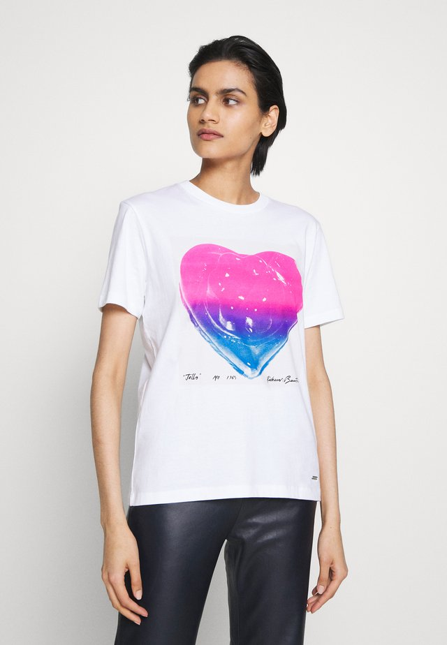 JELLO HEART - T-shirt con stampa - white