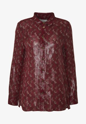 LUNAR NEW YEAR HORSE CARRIAGE - Button-down blouse - red