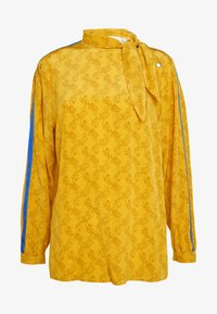 Coach - HORSE AND CARRIAGE TIE NECK BLOUSE - Pusero - ochre - 5