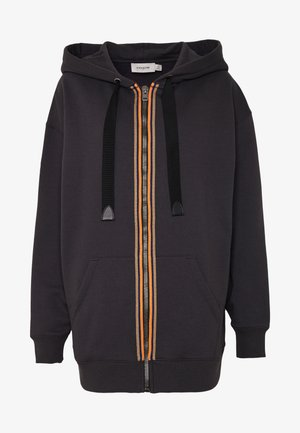 HORSE AND CARRIAGE ZIP UP HOODIE - Collegetakki - black