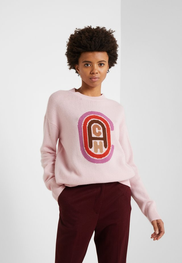 RETRO INTARSIA - Sweter - pink