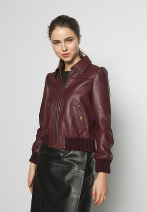 Leather jacket - dark red