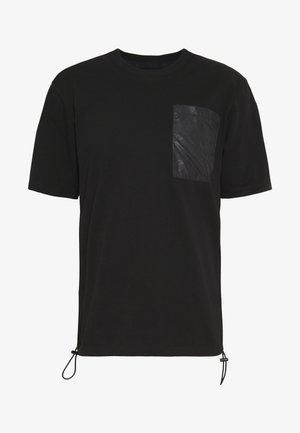 HORSE AND CARRIAGE POCKET  - T-shirt print - black