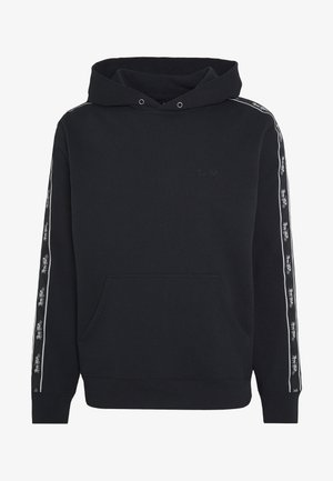 HORSE AND CARRIAGE TAPE HOODIE - Mikina s kapucí - black