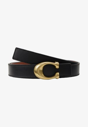 SCULPTED REVERSIBLE BELT - Belt - saddle