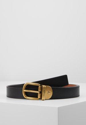 Pásek - black/saddle