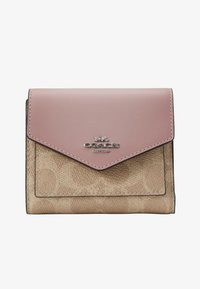 Coach - COLORBLOCK SIGNATURE SMALL WALLET - Portfel - sand aurora