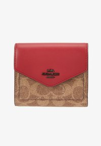 Coach - COLORBLOCK SIGNATURE SMALL WALLET - Lommebok - tan/red apple - 1