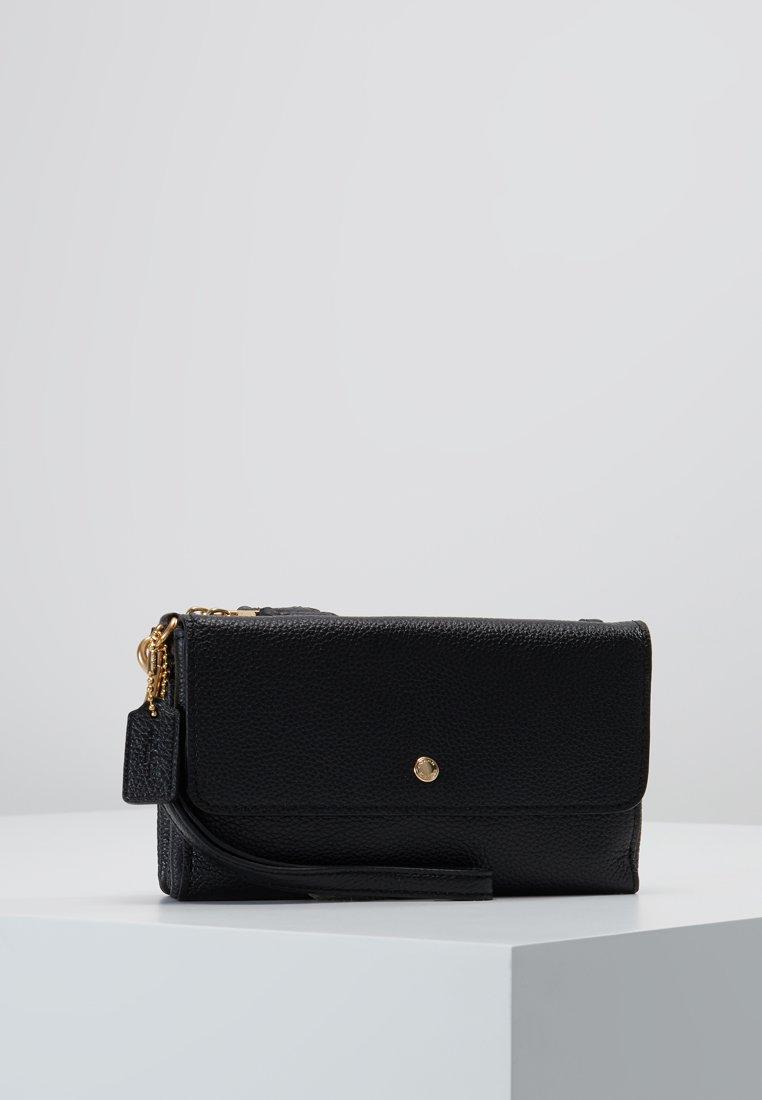 Coach - TRIPLE SMALL WRISTLET - Portefeuille - black