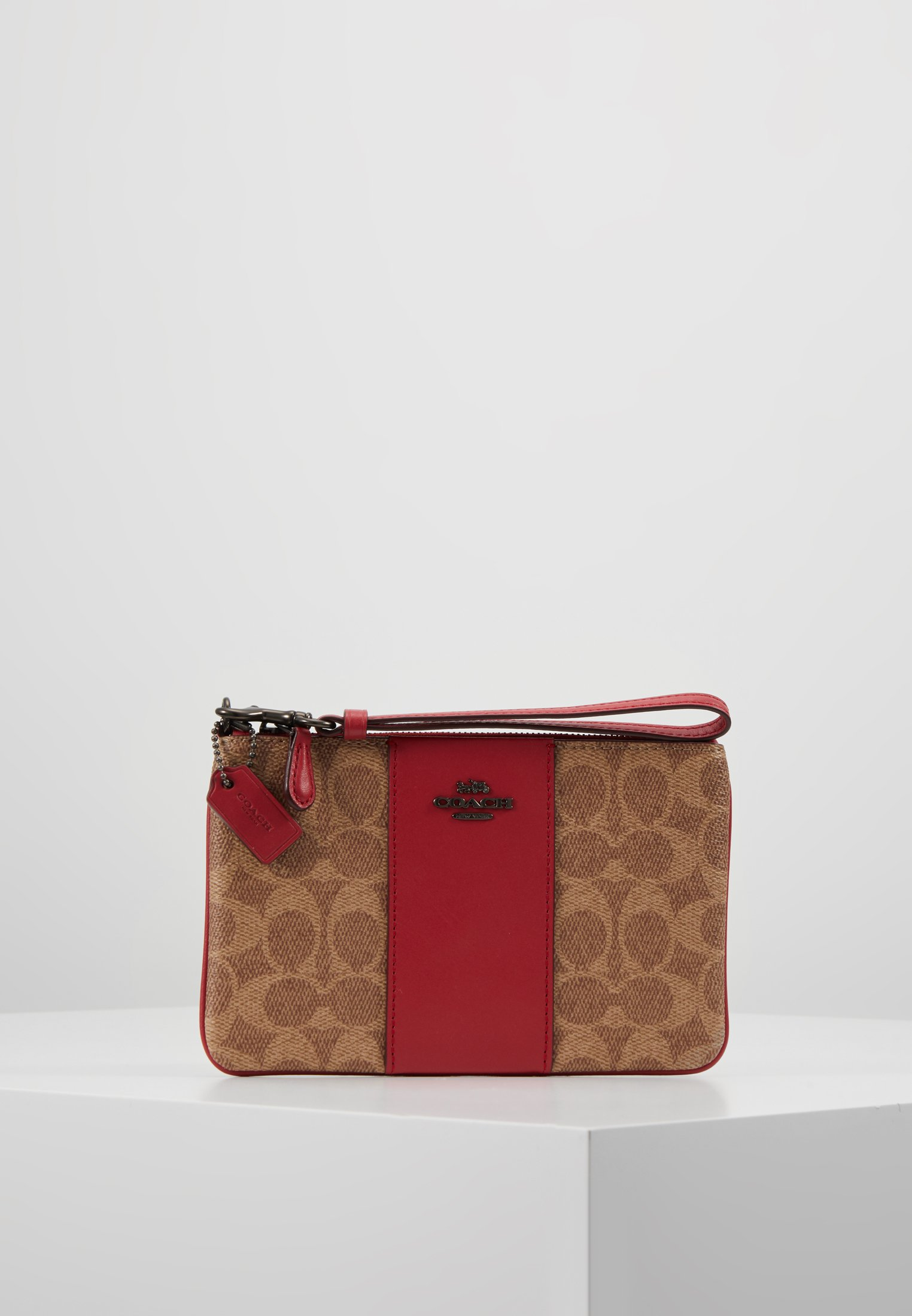 Coated WristletPortefeuille Small red Coach Tan Apple 2WEH9IDY