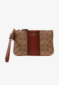 Coach - COATED SMALL WRISTLET - Wallet - tan rust