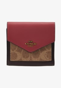 Coach - SIGNATURE COLORBLOCK COATED SMALL WALLET - Geldbörse - tan/dusty pink - 1