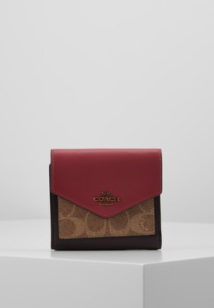 SIGNATURE COLORBLOCK COATED SMALL WALLET - Portfel - tan/dusty pink