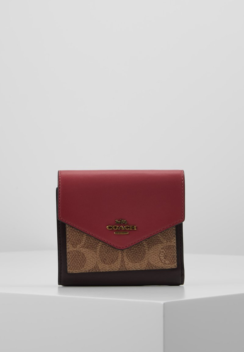 Coach - SIGNATURE COLORBLOCK COATED SMALL WALLET - Geldbörse - tan/dusty pink