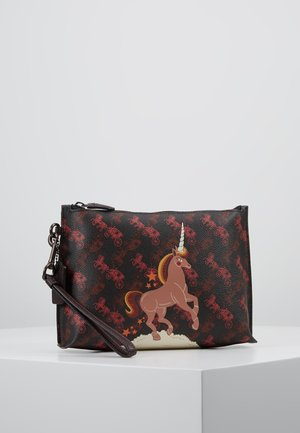 HORSE AND CARRIAGE UNICORN CHARLIE POUCH - Clutch - black oxblood