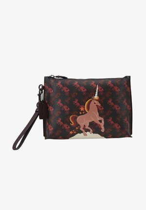 HORSE AND CARRIAGE UNICORN CHARLIE POUCH - Pikkulaukku - black oxblood