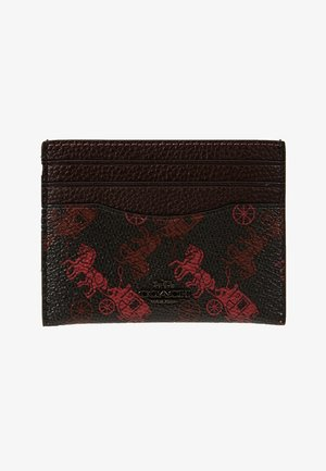 HORSE AND CARRIAGE FLAT CARD CASE - Business card holder - black