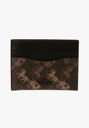 HORSE AND CARRIAGE FLAT CARD CASE - Kortholder - brown/black