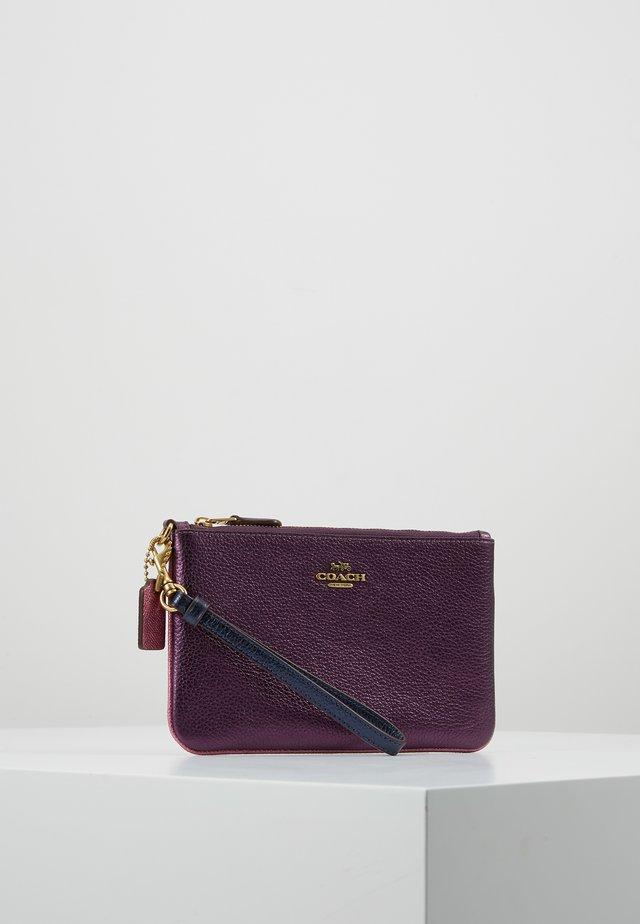 METALLIC COLORBLOCK SMALL WRISTLET - Peněženka - purple