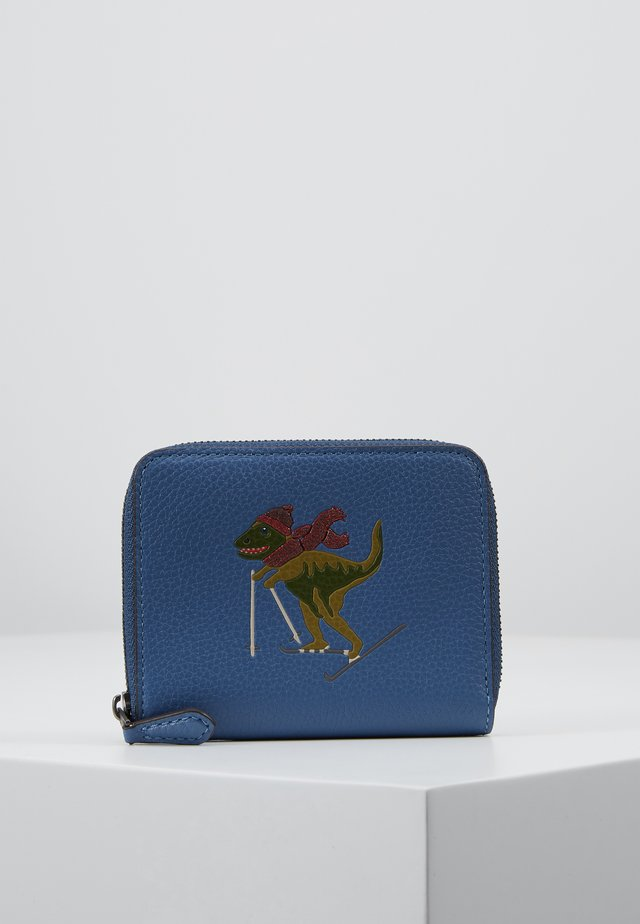 REXY SMALL ZIP AROUND WALLET - Lommebok - stone blue