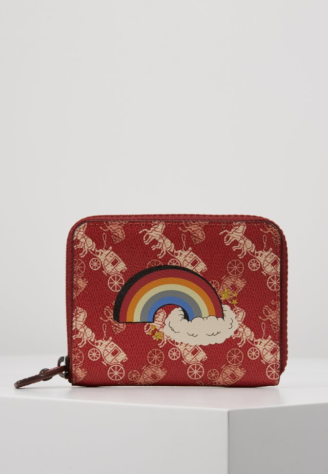 HORSE AND CARRIAGE COATED RAINBOW SMALL ZIP AROUND - Peněženka - deep red