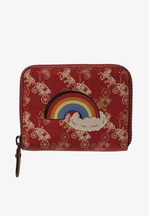 HORSE AND CARRIAGE COATED RAINBOW SMALL ZIP AROUND - Geldbörse - deep red