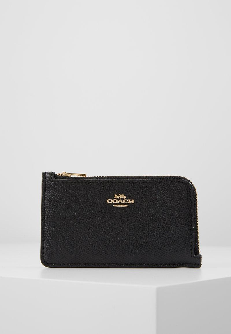 Coach - SMALL L ZIP CARD CASE - Portfel - black