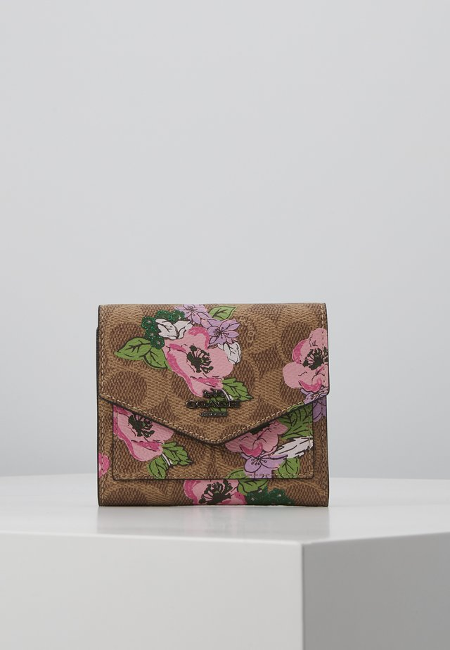 SIGNATURE BLOSSOM PRINT SMALL WALLET - Portemonnee - tan sand